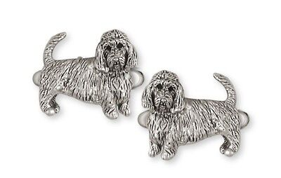 PBGV Petite Brussels Griffon Vendeen Cufflinks Silver Dog Jewelry GV6-CL