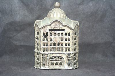 "Vintage Still Bank - Cast Iron Bank Building Dome Roof 5"" High"