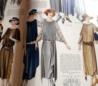 VTG 1920s PICTORIAL REVIEW MAGAZINE Fashion Sewing Pattern Catalog 1922