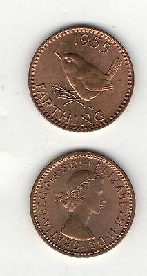 Qe.i.i. 1955 . Farthing. Unc..cond Mint Lustre.see Pictures