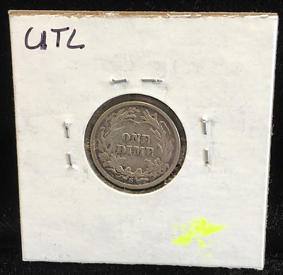1908-S Silver 10 cents Barber Dime No Reserve NR (RC949)
