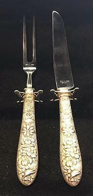 Manchester Silver Souther Rose one 2 Piece Small Full Repousse Steak  STR0015.b