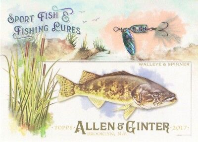2017 Topps Allen & Ginter Sport Fish & Fishing Lures #SFL-2 Walleye