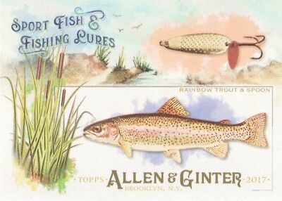 2017 Topps Allen & Ginter Sport Fish & Fishing Lures #SFL-8 Rainbow Trout