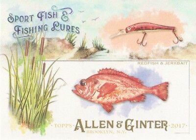 2017 Topps Allen & Ginter Sport Fish & Fishing Lures #SFL-10 Redfish