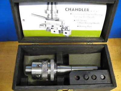 "Chandler Duplex Boring Facing Head R-8 Shank W/case 3/8"" Tool Bore ***superb***"