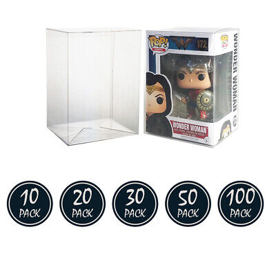 "Funko Pop! Box Protector Boxes For 4"" Vinyl Figures Crystal Clear Cases"