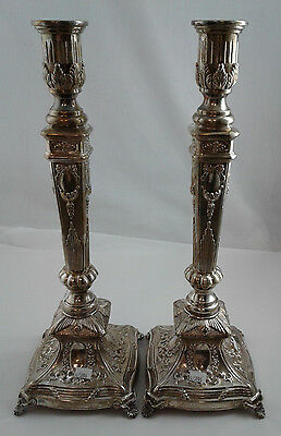 Pair of Candlesticks - Hadad Bros. - Sterling Silver 925 - 920 g MINT CONDITION