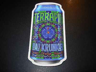 TERRAPIN Athens Luau Krunkles Can STICKER decal craft beer brewing brewery