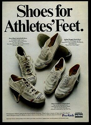 1969 Pro Keds tennis basketball boat shoes color photo vintage print ad