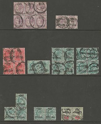 Selection Of  Victorian And Evii Officials In Multiples Cat £253+ See Scans