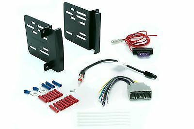 Cr1291B Car Radio Dash Install Kit Stereo Double Din Wire Harness Antenna