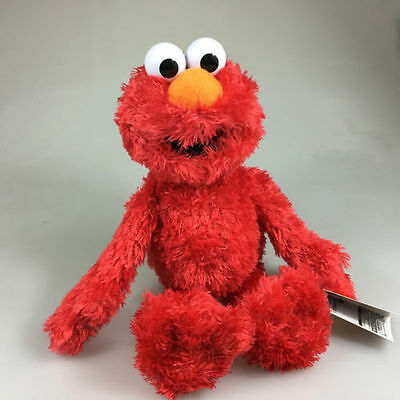"NEW Sesame Street ELMO 12"" Beanie Plush Toy Soft Stuffed Doll Teddy RED"
