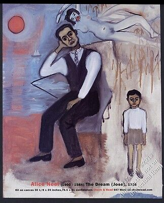 2007 Alice Neel The Dream painting NYC art gallery show vintage print ad
