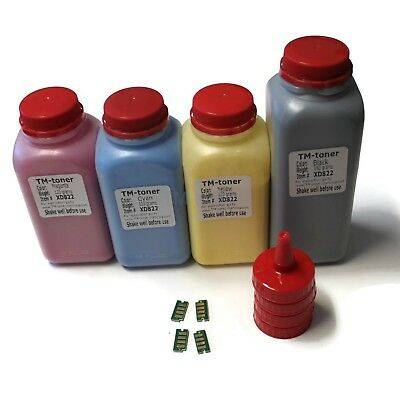 4 color TONER refill w chips for XEROX PHASER 6600 6600dn 6600n WORKCENTRE 6605