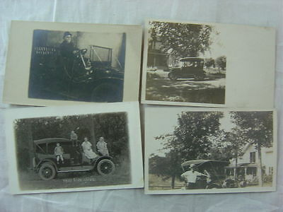Lot of 4 Vintage Photo Postcards 1900s Cars Automobiles Maxwell Model T Ford 791