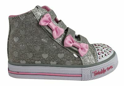 New Skechers Twinkle Toes S Lights Shuffles Doodle Days Infant Sneakers