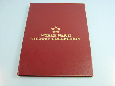 Vtg Postal Commemorative Society WWII Victory Collection Stamp Sets 1980