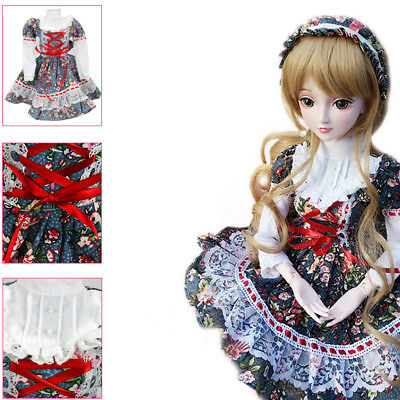 [wamami] W01# Flower Prints Dress/Outfit/Clothes 1/3 SD AOD DZ BJD Dollfie