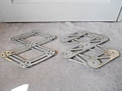 2 Old french Chrome ACCORDION TRIVETS TRAY HOLDERS