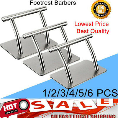 Modern Stainless Steel Footrest Barbers Hair Chair Salon Tattoo Spa Equipment DU