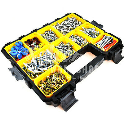 430 Pcs Stanley Plasterboard Drywall Plug Screws Spring Toggle Speed Gripit Kit