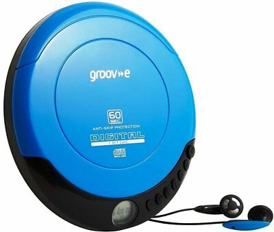 Groov-e Retro Series Personal CD Player Walkman with Earphones - Blue