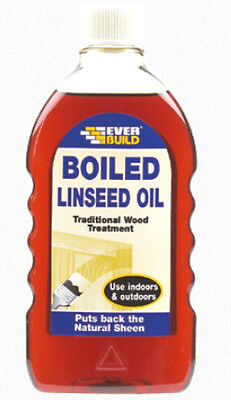 Boiled Linseed Oil Traditional Wood Treatment Indoor & Outdoor 500ml Ever Build