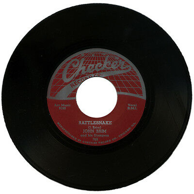 """JOHN BRIM AND HIS STOMPERS  """"RATTLESNAKE c/w IT WAS A DREAM""""  BLUES"""