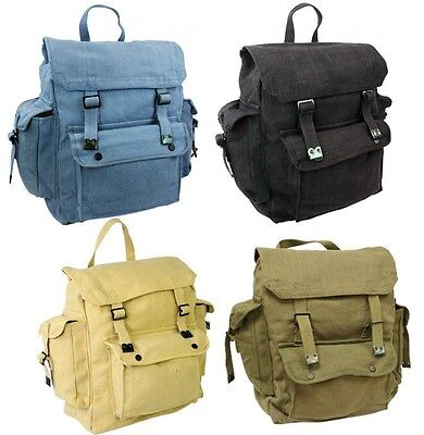 LARGE WEBBING BACKPACK BAG with POCKETS use as rucksack army military canvas