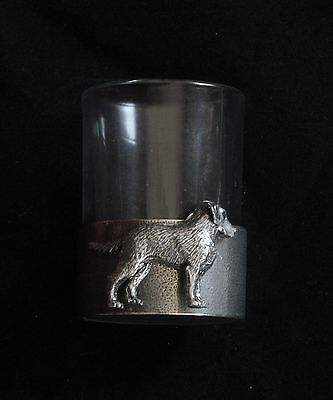 Labrador Shot Glass Pewter Based Round 50ml Shooting Gift