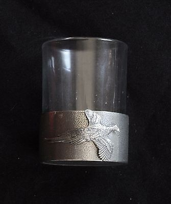 Pheasant Shot Glass Pewter Based Round 50ml Shooting Gift