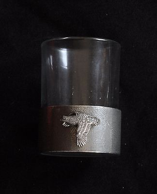 Quail Shot Glass Pewter Based Round 50ml Hunting Gift