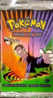 POKEMON GYM CHALLENGE SEALED BOOSTER PACK ENGLISH 1st EDITION NEW RARE