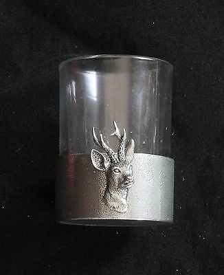 Roe Shot Glass Pewter Based Round 50ml Hunting Gift