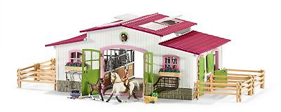 Riding Centre With Rider, Horses And Accessories (Pink Stable)