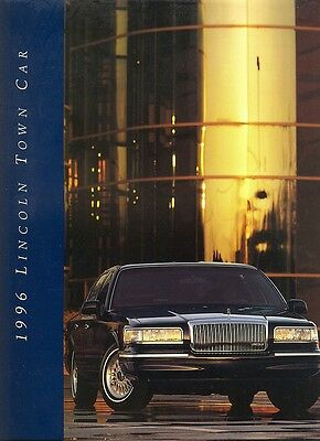 1996 Lincoln Town Car Signature Cartier Deluxe Sales Brochure w/Paint Chips