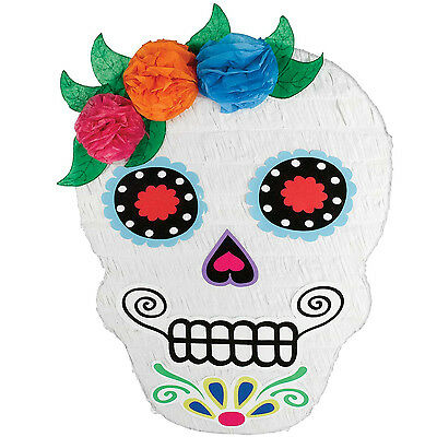 Day of the Dead Sugar Skull Pinata - Fun Halloween Party Game
