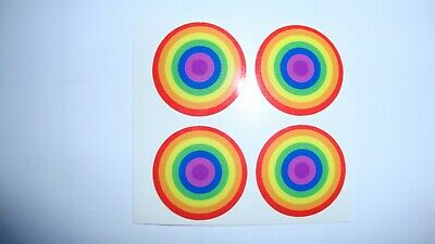 16  Rainbow  Crown Green Bowls  Stickers  8 Finger + 8 Thumb Lawn Bowls