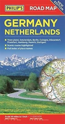 Philip's Germany and Netherlands Road Map (Philips Road Map) NEW BOOK