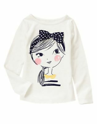Nwt Gymboree Flower Shower Bow Girl Tee Long Sleeve Top Size 10