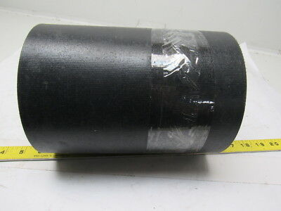 "2 Ply Black Rubber Smooth Top Conveyor Belt 15' X 8-3/4"" X 0.044"""