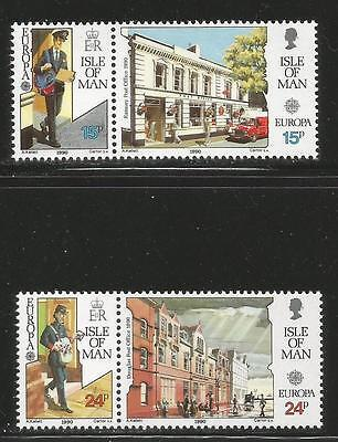 Isle of Man 1990 Europa/Post Offices--Attractive Topical (418-21) MNH