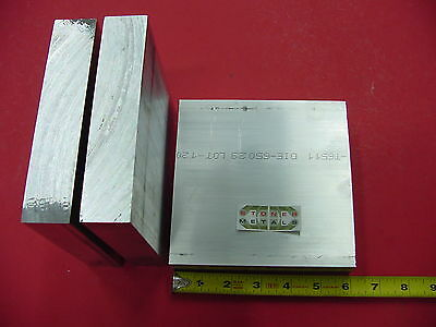 """3 pieces 1-1/4"""" X 6"""" ALUMINUM 6061 FLAT BAR 6"""" long Solid T6511 Plate Mill Stock"""