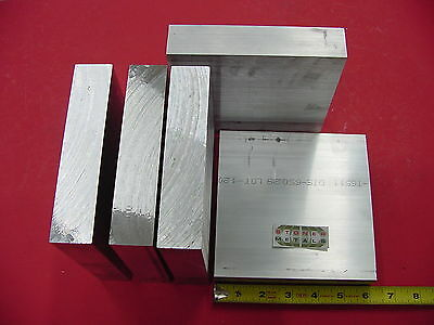 """5 pieces 1-1/4"""" X 6"""" ALUMINUM 6061 FLAT BAR 6"""" long Solid T6511 Plate Mill Stock"""