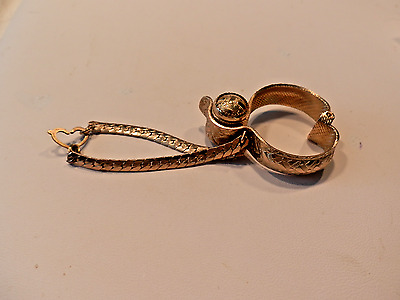 Retro Goldtone Glove Clip Holder To Attach To Purse