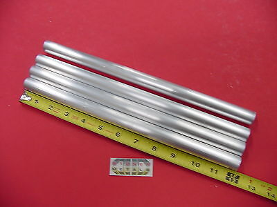 "4 Pc 3/4"" OD x .065"" Wall 6061 T6 ALUMINUM Round Tube 12"" long .62"" ID Seamless"