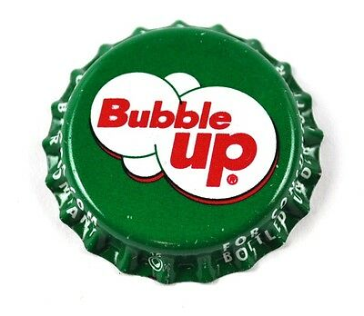 Bubble Up Soda Bier Kronkorken USA Bottle Cap Plastikdichtung grün