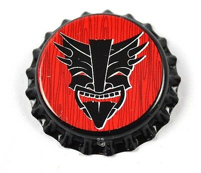 Heathen Brewing Soda Bier Kronkorken USA Bottle Cap Plastikdichtung Teufel
