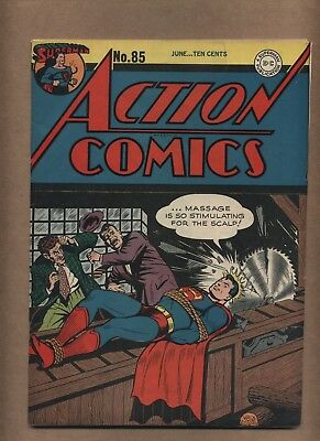 Action 85 (Solid!) 3rd Superman cover by Shuster; DC Comics; 1945 (c#14887)